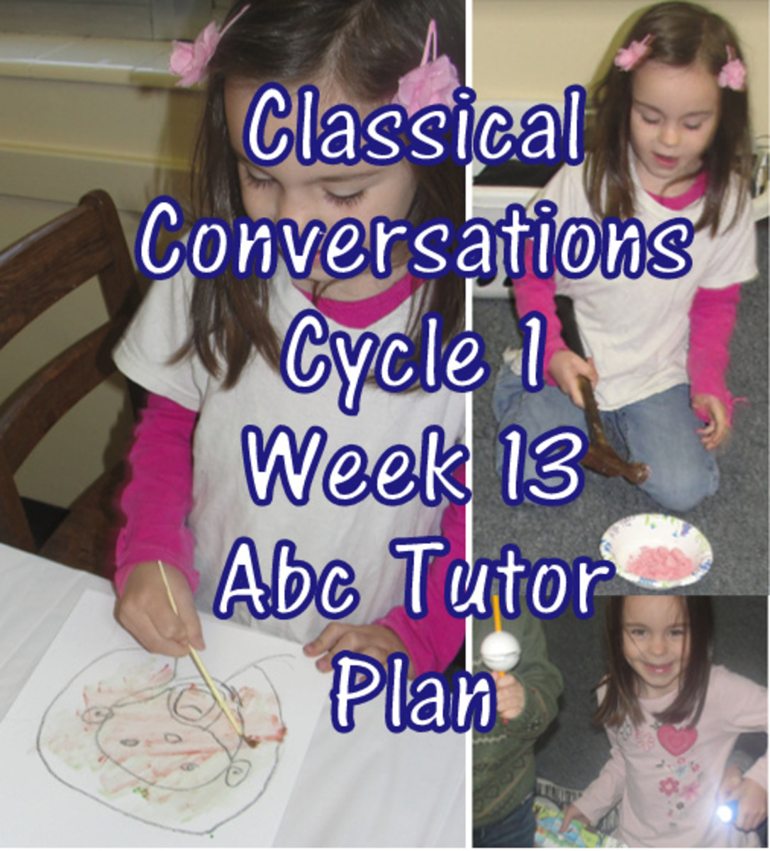 Classical Conversations Cycle 1 Week 13 Abc Tutor Plan