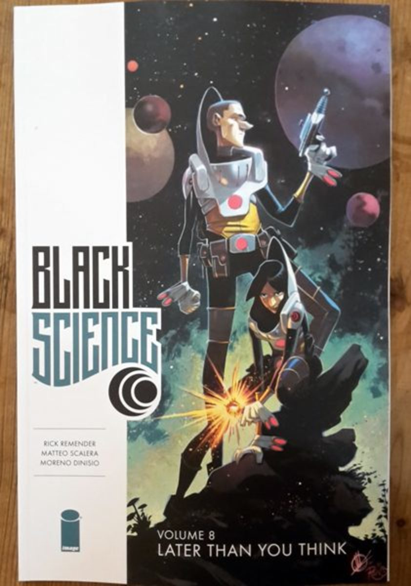Cover art to Black Science, vol. 8, done by Matteo Scalera.