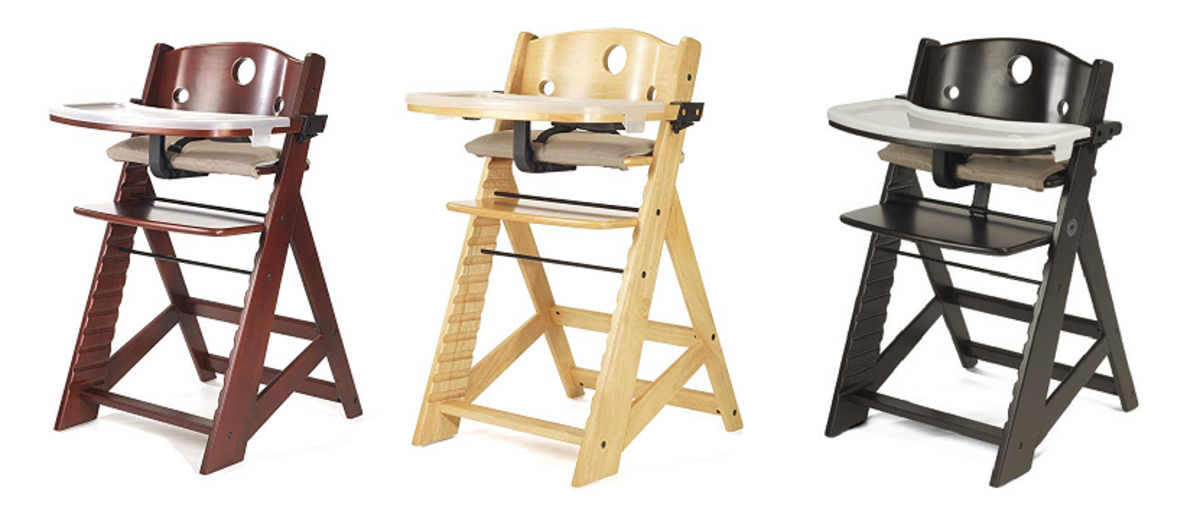 Some of the available colors of the Keekaroo Height Right Highchair