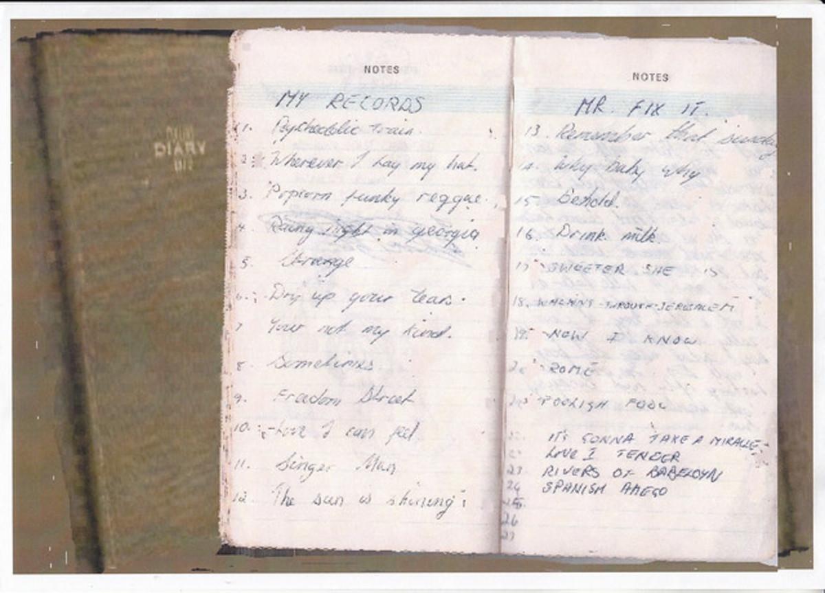 1970 Reggae Diary - See No 12