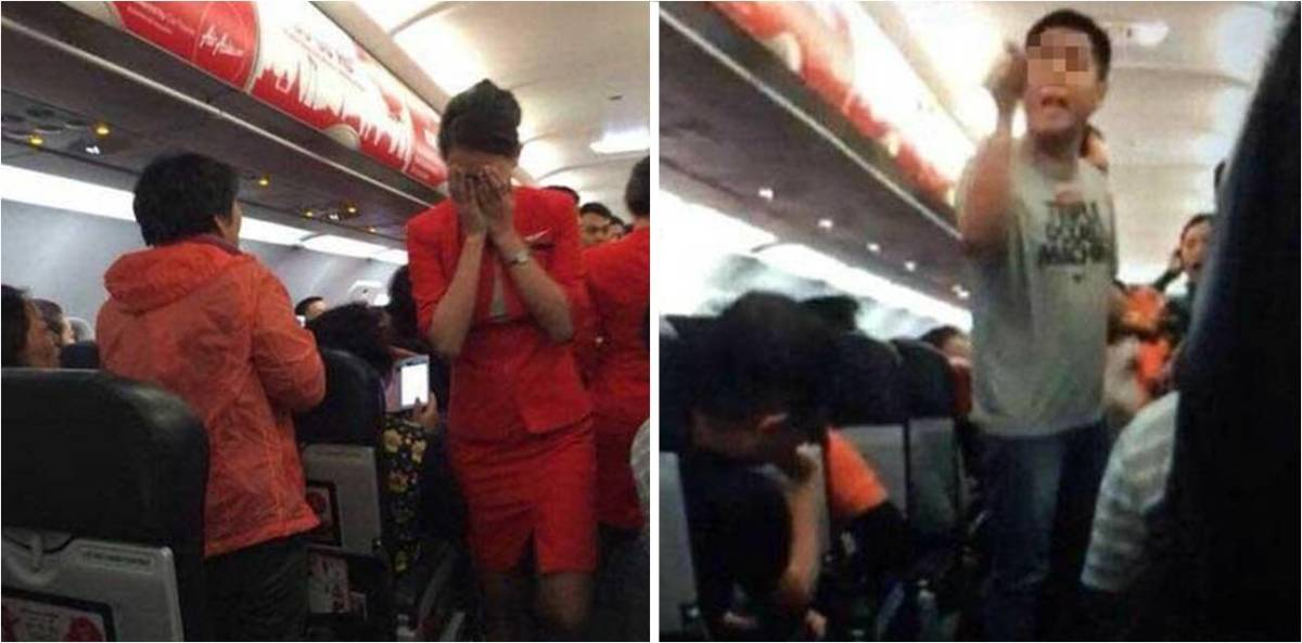 Some thug just assaulted a Stewardess with hot water.
