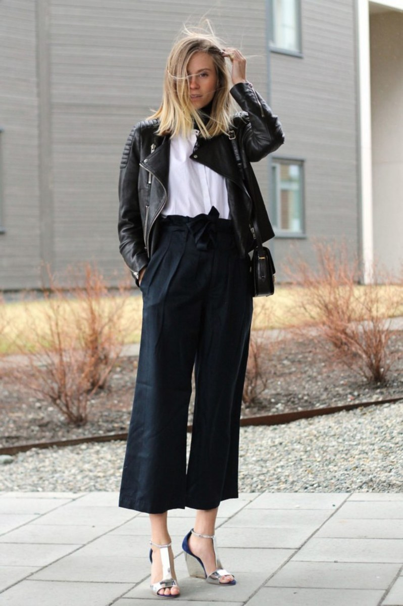 laced-up culottes...