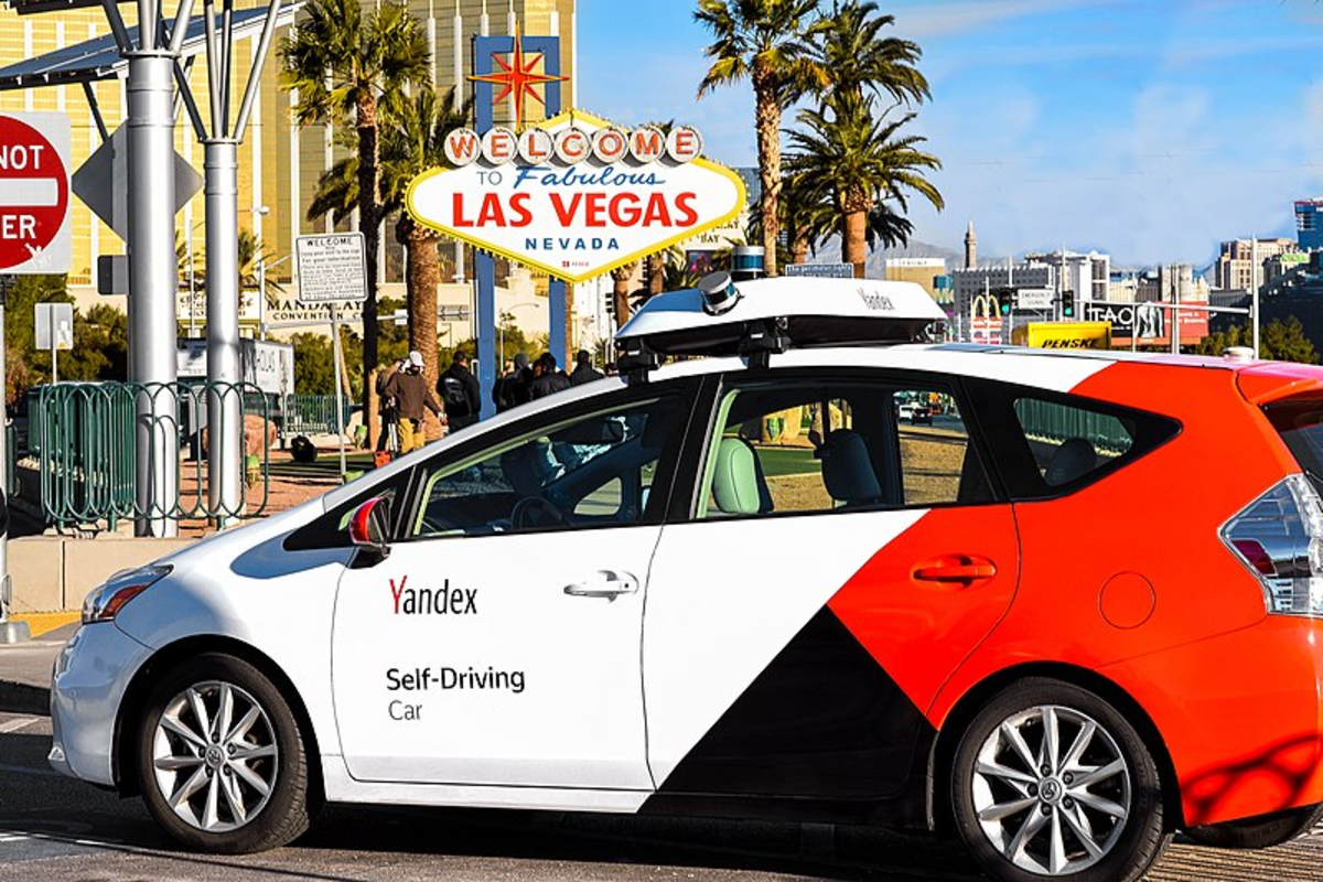 Self-Driving Car Yandex Taxi, Las-Vegas, Nevada (January 7, 2019)