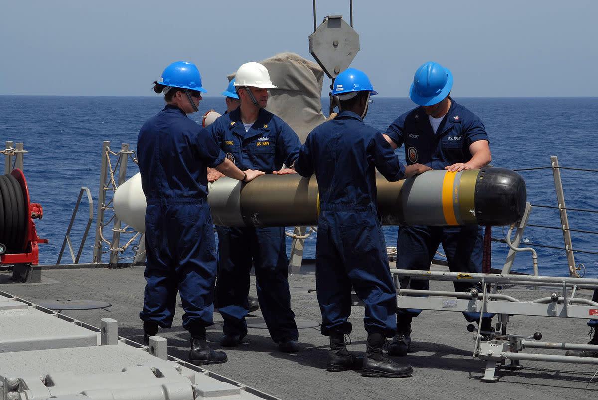 MK54 on Destroyer USS Ross