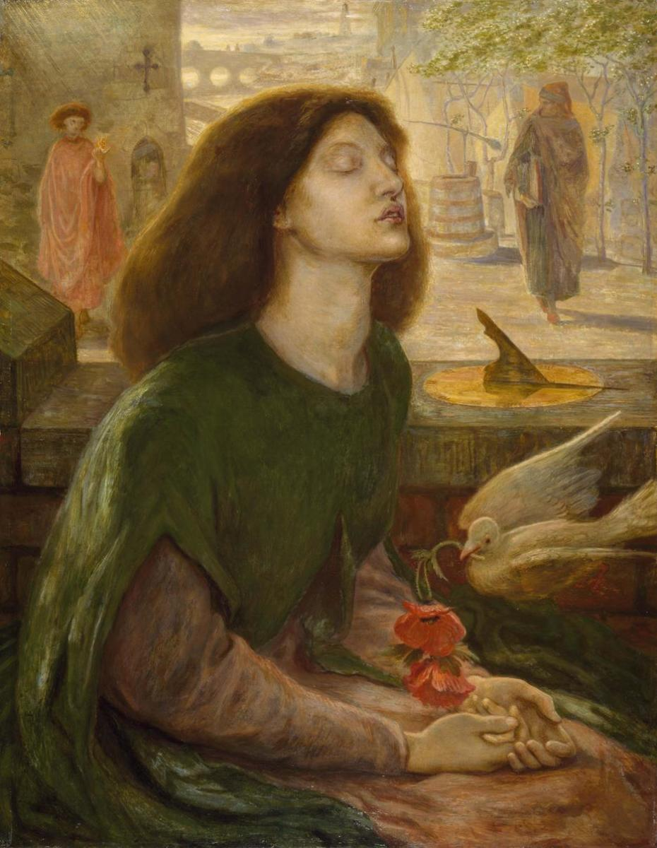 One of Rossetti's Most Compelling Works: Beata Beatrice (Model Elizabeth Siddall Immortalized as Beata Beatrix) 1864-1870