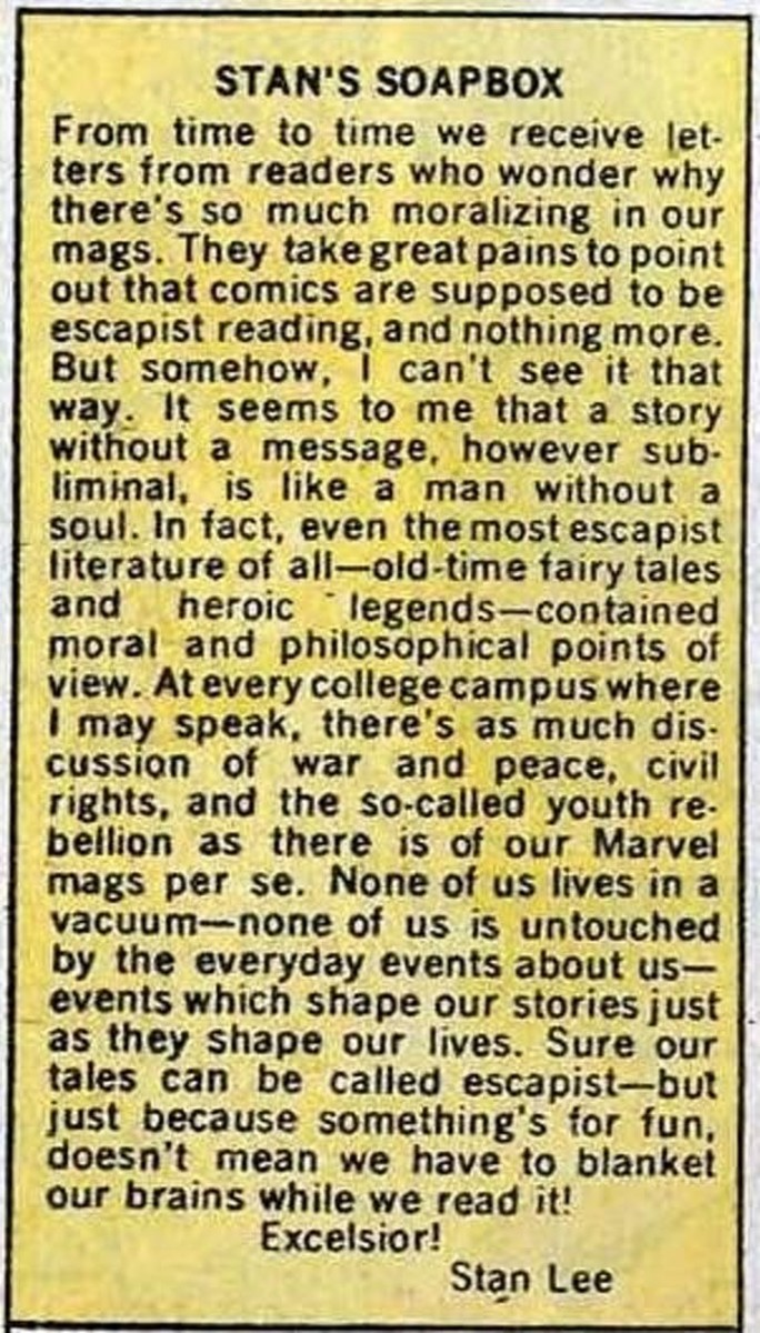 Stan Lee was dealing with comicsgate before comicsgate was a thing,