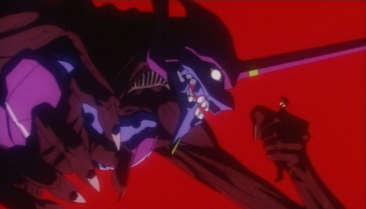 Gendo about to get what he deserves.