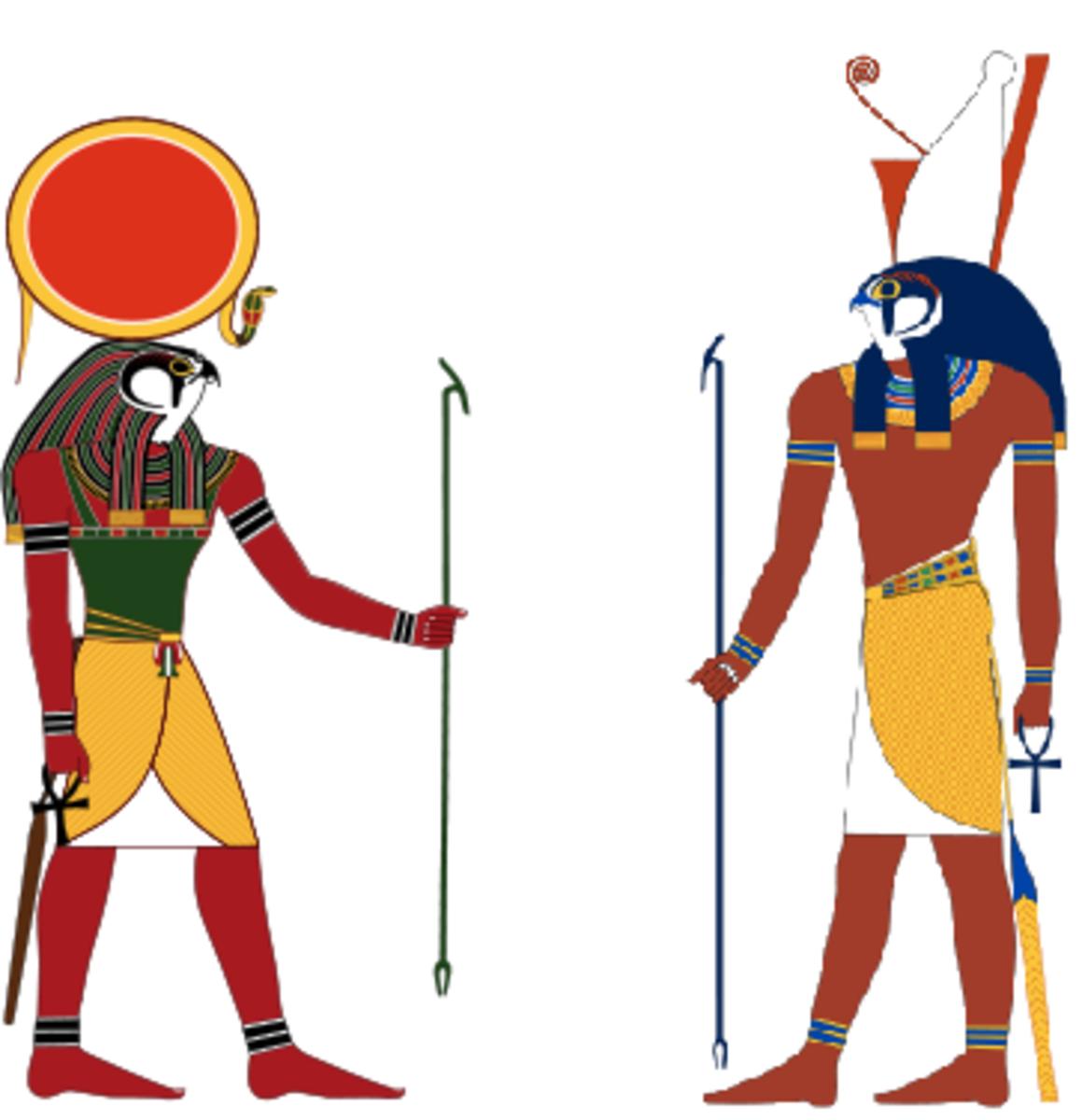 Ra (left) Horus (right)