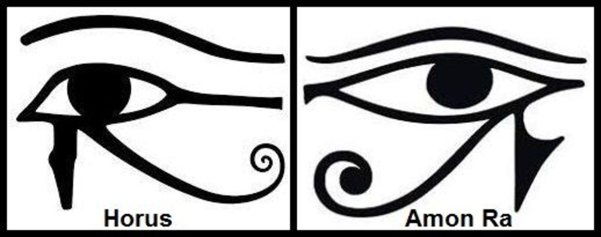Eye of Horus (left); Eye of Ra (right)