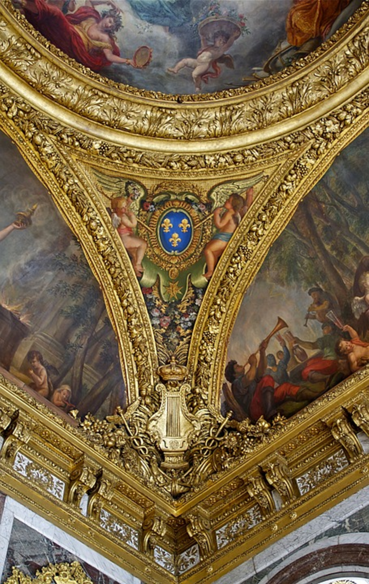 An aspect of a room at the Palace at Versailles