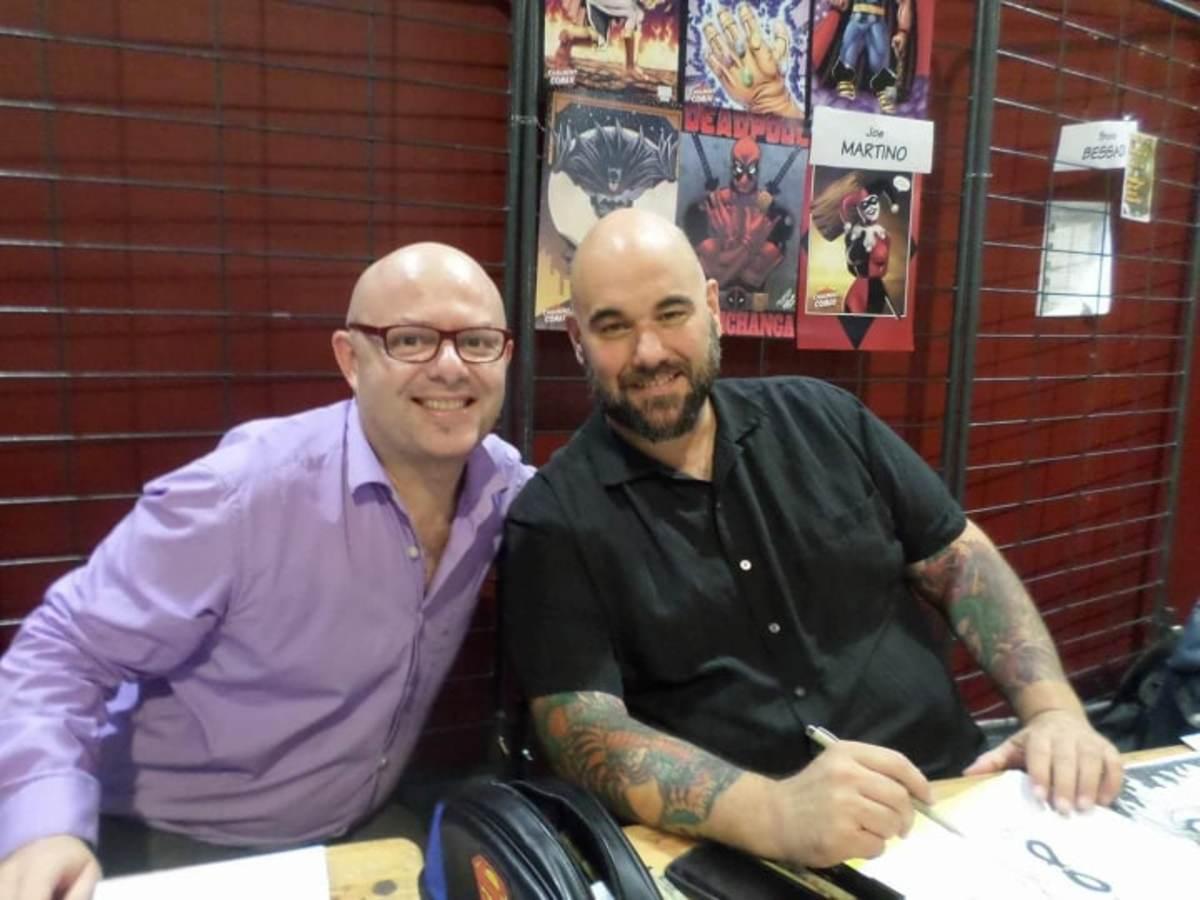 Chris Malgrain (left) and Joe Martino (in France).