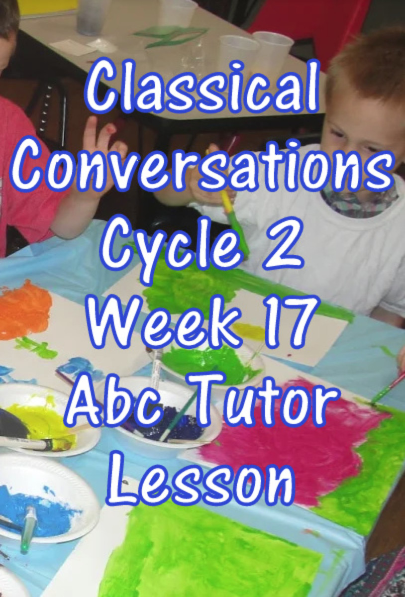 CC Classical Conversations Cycle 2 Week 17 Abc Tutor Lesson Plan