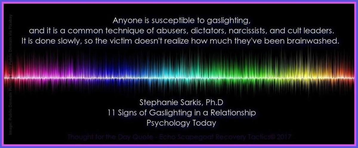 Gaslighting Quote on Psychology Today