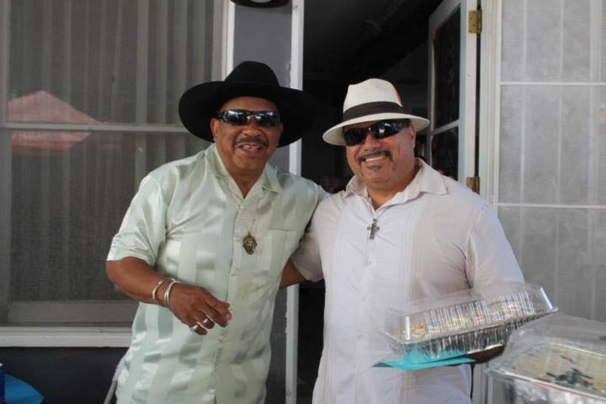 "Rich with Archie Bell of the Drells fame -= ""Tighten Up""!"