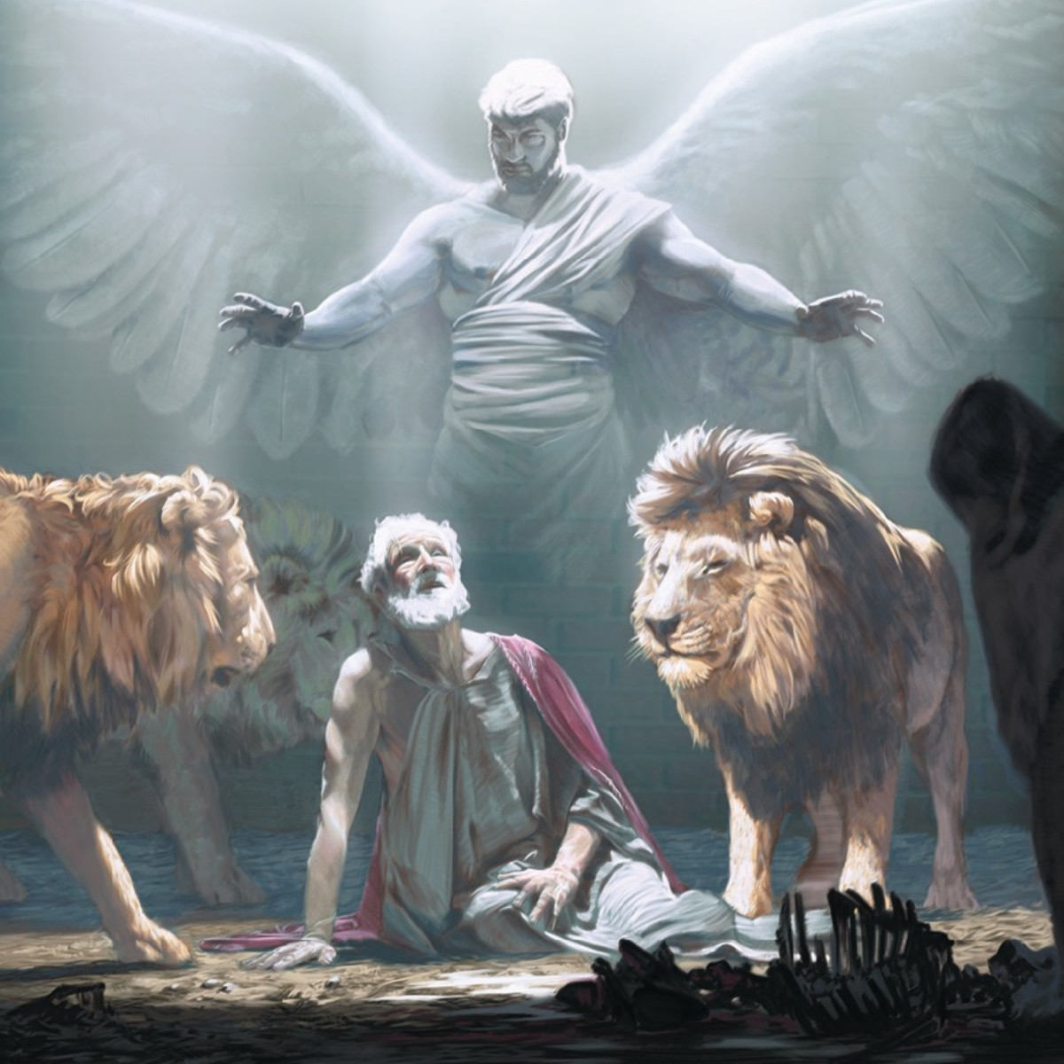 """My God sent his angel and shut the mouth of the lions.""​—Daniel 6:22"