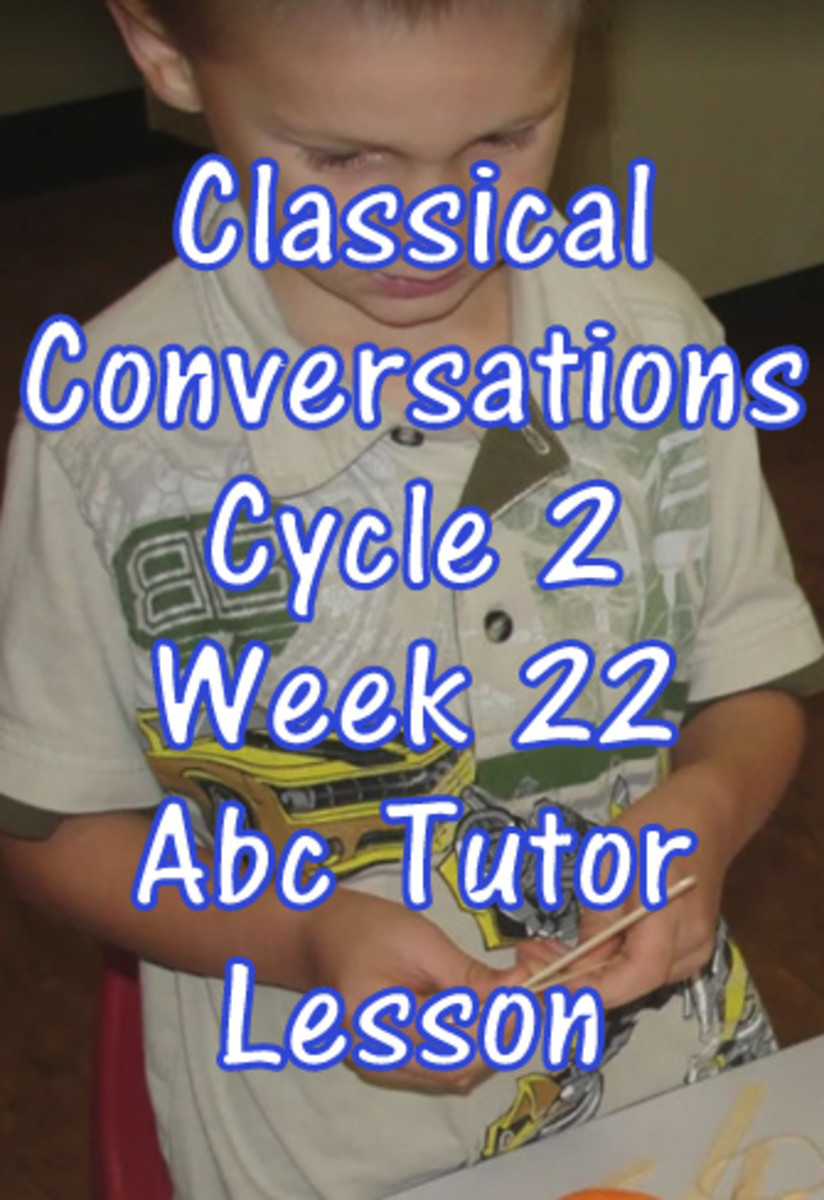 Classical Conversations CC Cycle 2 Week 22 Abc Tutor Lesson