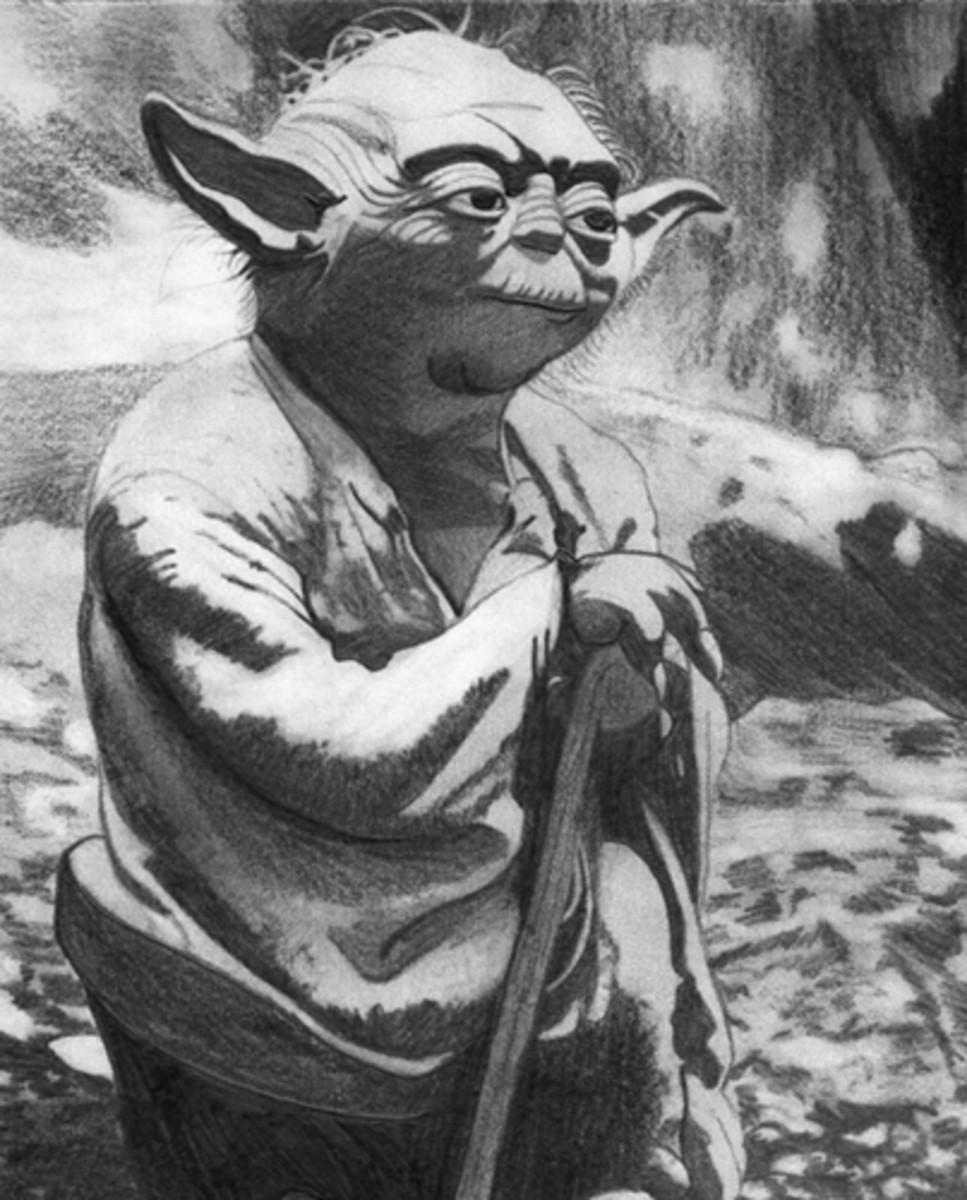 Yoda - Graphite Pencil Sketch