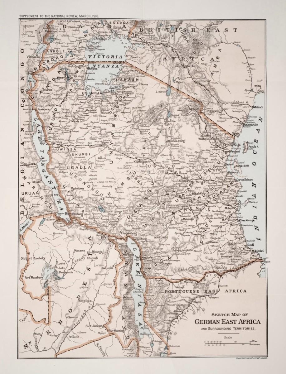 Map Of German East Africa