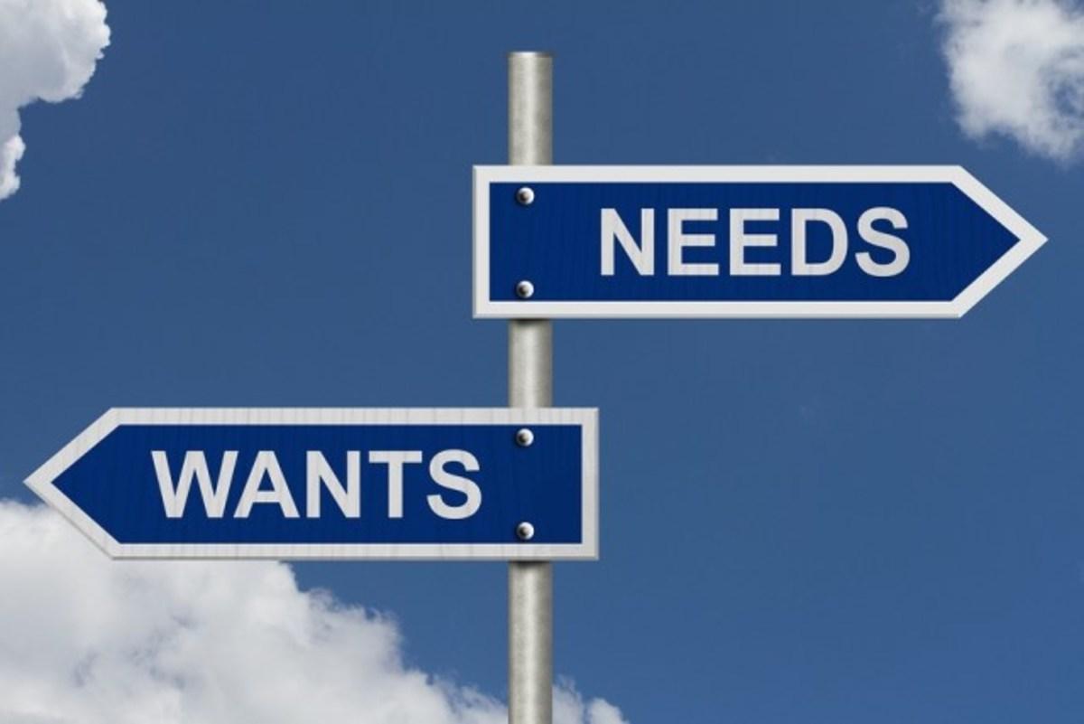 I want I need