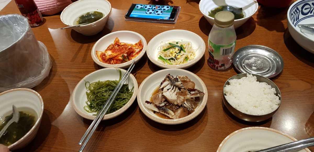 Side dishes at a random Korean restaurant