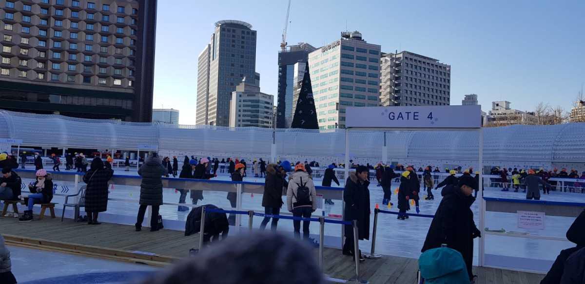 Ice Skating Rink - outside Seoul Plaza