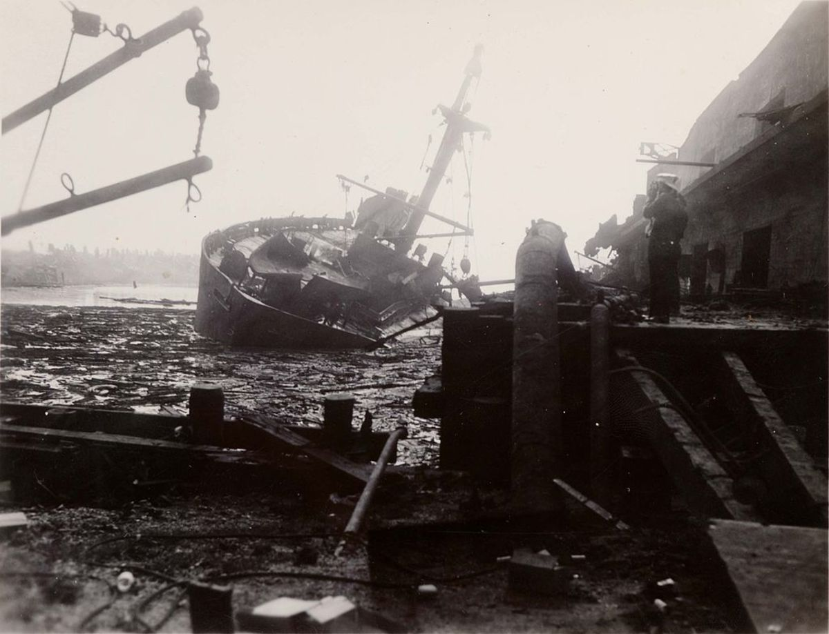 Aftermath of SS Grandcamp disaster