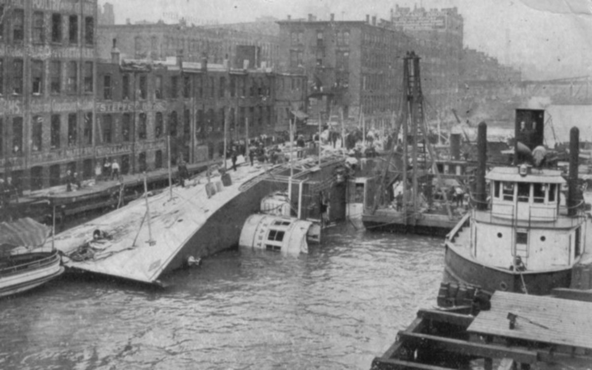 Wreck of the SS Eastland