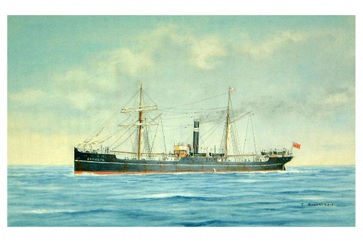 Painting of the SS Camorta