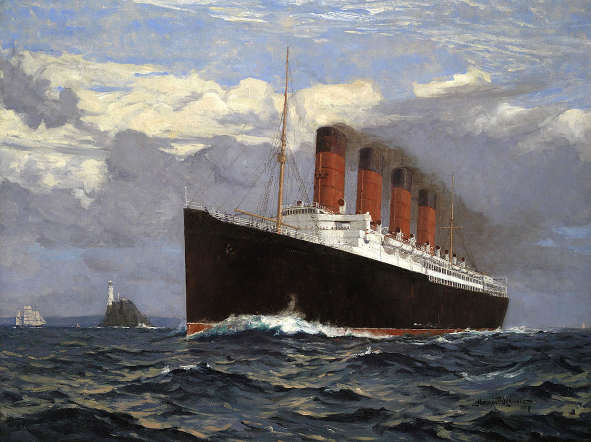 Painting of the Lusitania