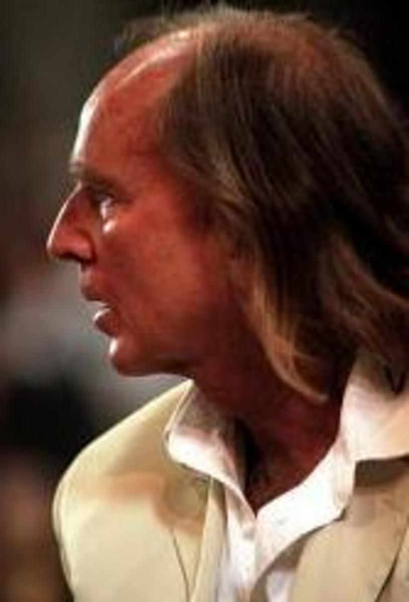 Photograph of Sir John Tavener in 2005.