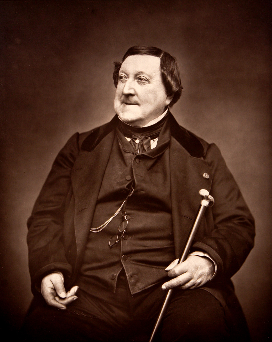 Photograph of Rossini in 1865.