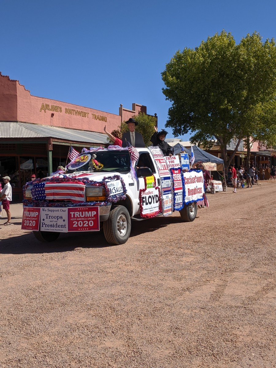 Political parties and candidates are among those who often participate in America's small town parades