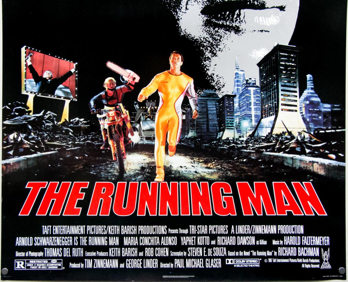 Arnold Schwarzenegger in The Running Man (1987) - 80s Arny Action Flick