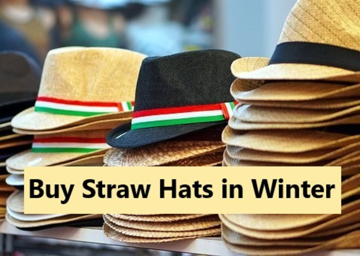 Buying straw hats in winter must be a smart choice. They must be far cheaper a purchase at this time of year.