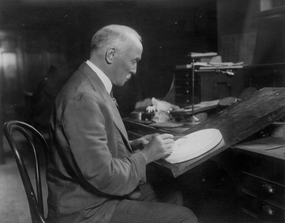 George T. Morgan at work in the U.S. Mint.