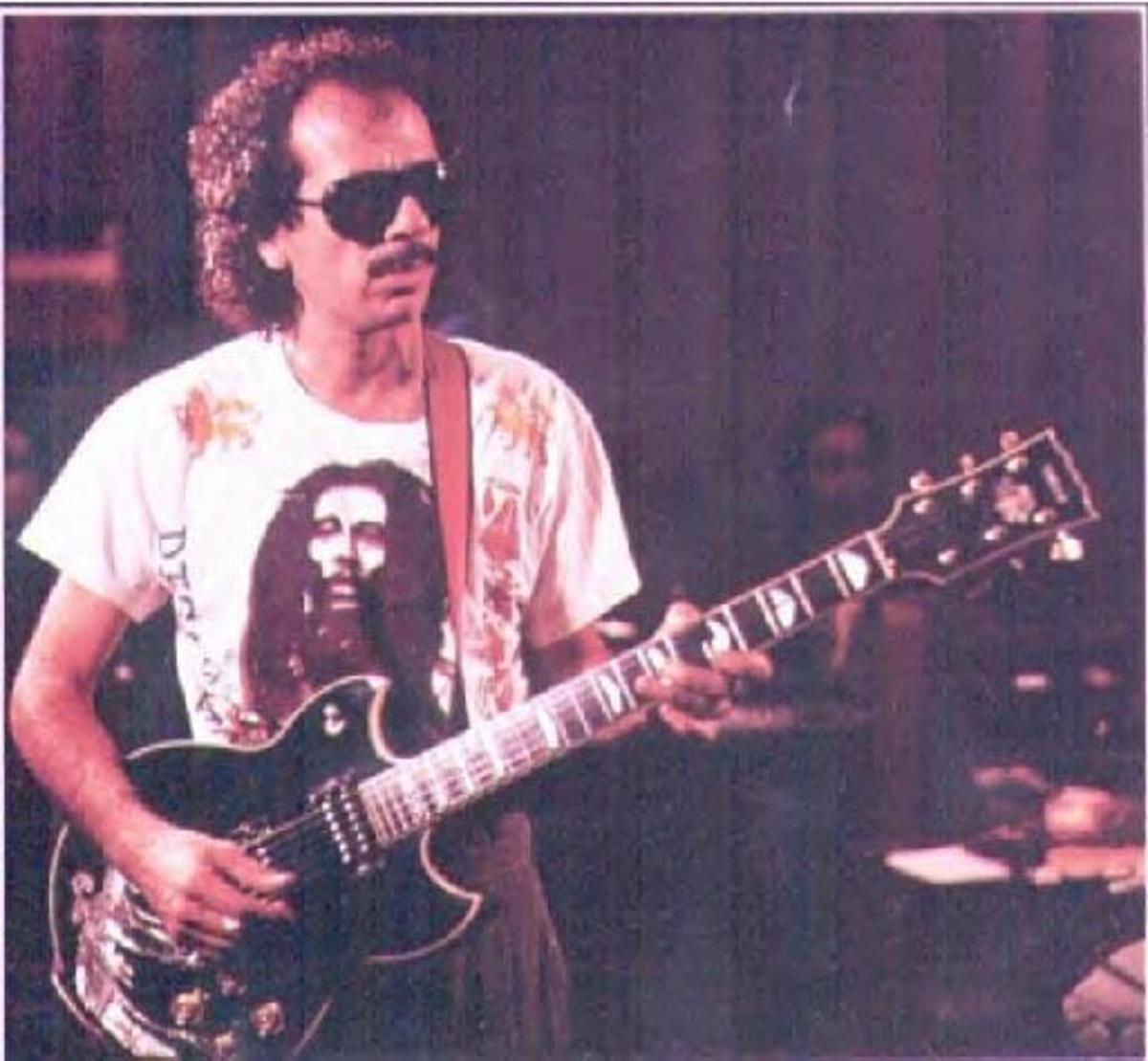 The great Carlos Santana with his Yamaha SG 2000.