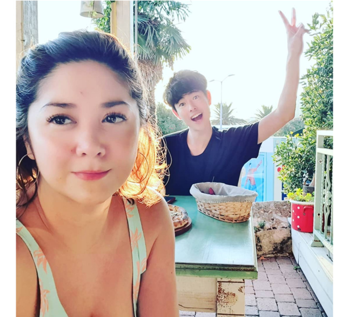The actress together with Fumiya Sankai. Katya is Helen, a family member to Billy while in Croatia.