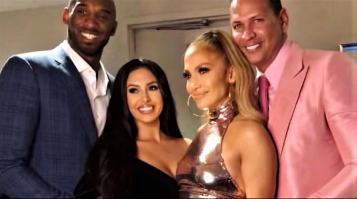 Kobe Bryant, Vanessa Bryant, Jennifer Lopez and Alex Rodriguez