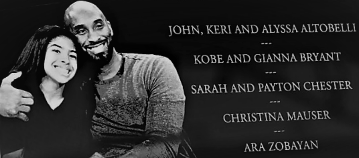 February 2, 2020 in Miami, Florida the San Francisco 49ers and the Kansas City Chiefs observe a moment of silence to honor former NBA player Kobe Bryant and his daughter Gianna Bryant, prior to Super Bowl Live at Hard Rock Stadium.