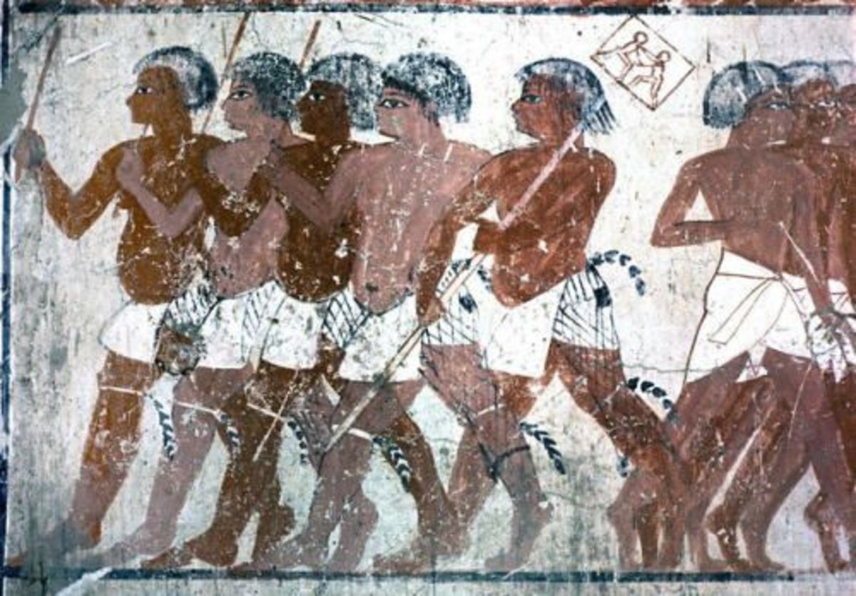 Depiction of Nubians.