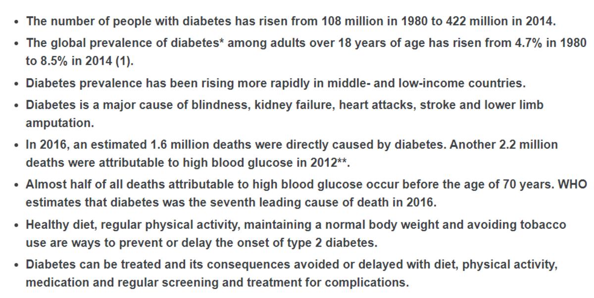 Diabetes (Key facts)