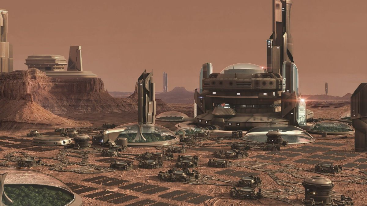 Martian City Concept Art