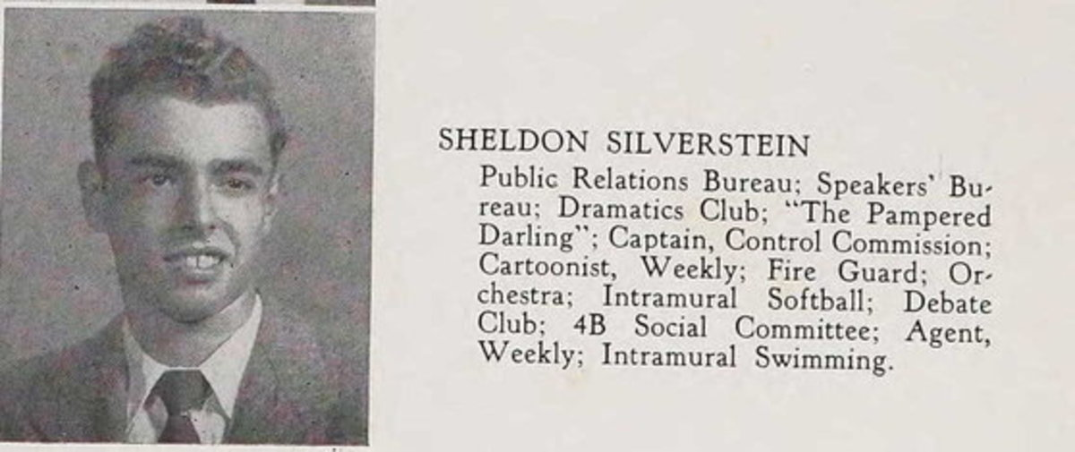 Shel Silverstein listing in yearbook
