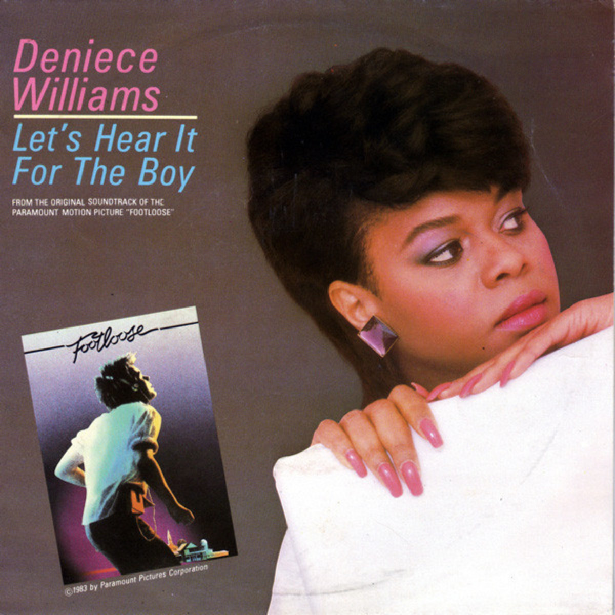"Cover Art for the Deniece Williams crossover hit single, ""Lets Hear it for the Boy"""