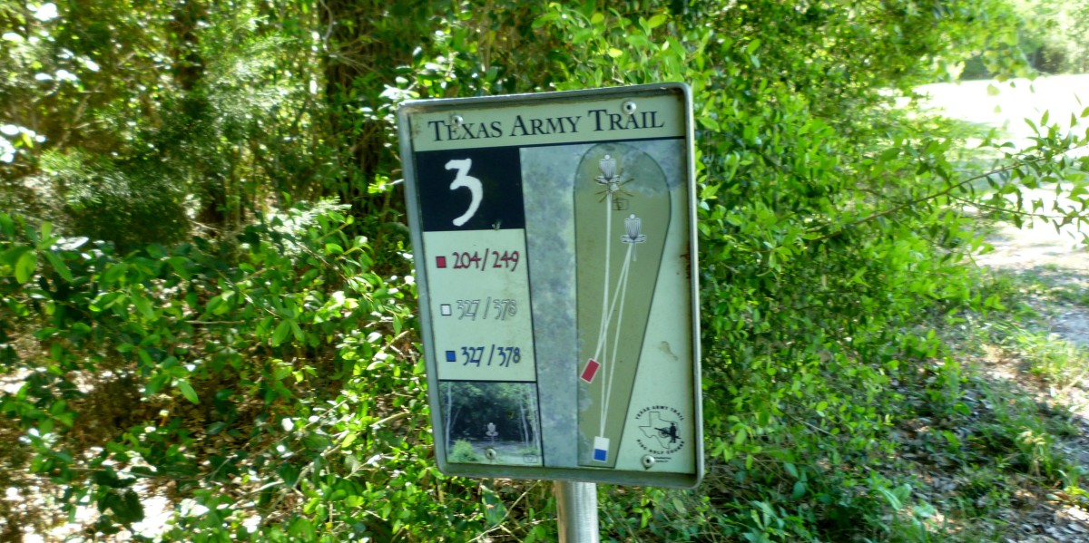 # 3 Hole Map on the Texas Army Trail