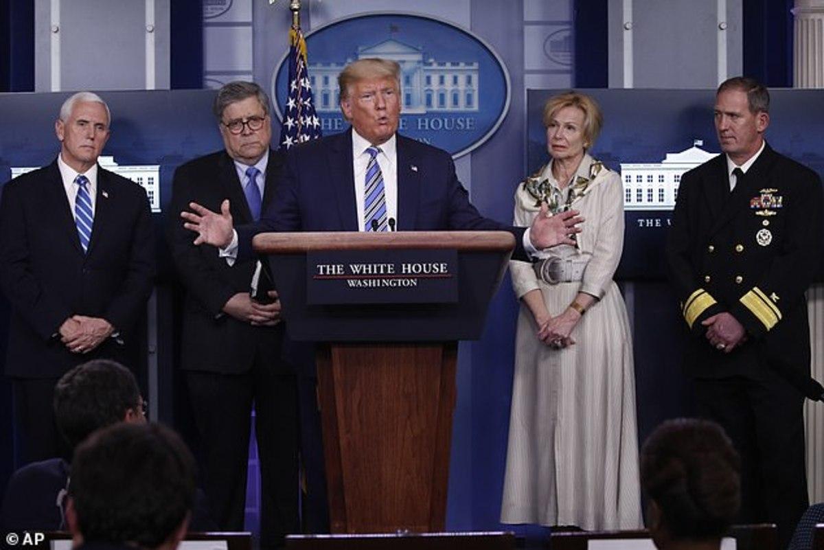 Trump press briefing March 23, 2020