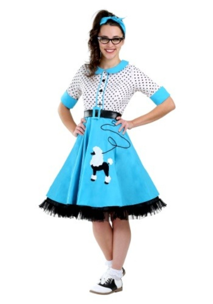 1950's Poodle Skirts are stylish and also modest!