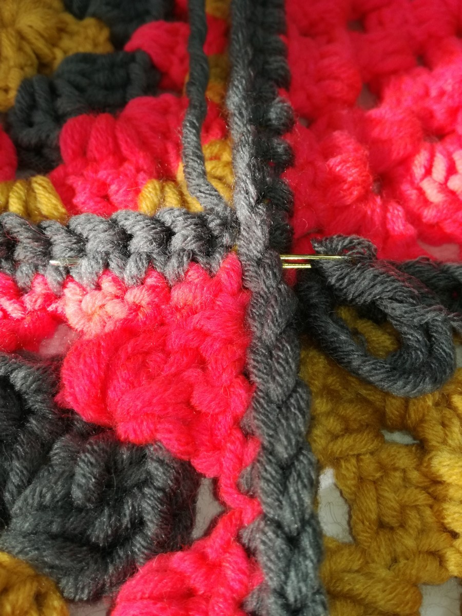Image 8. Sewing in the tails.