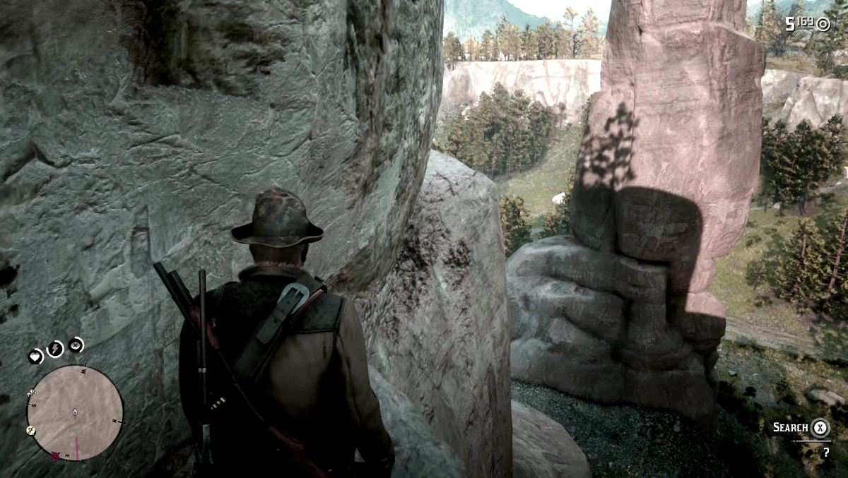 Jump across the rocks.