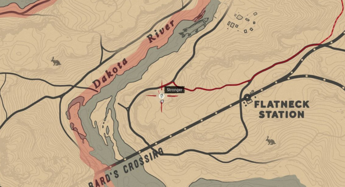 Red Dead Redemption 2 - Jack Hall Gang Treasure Map